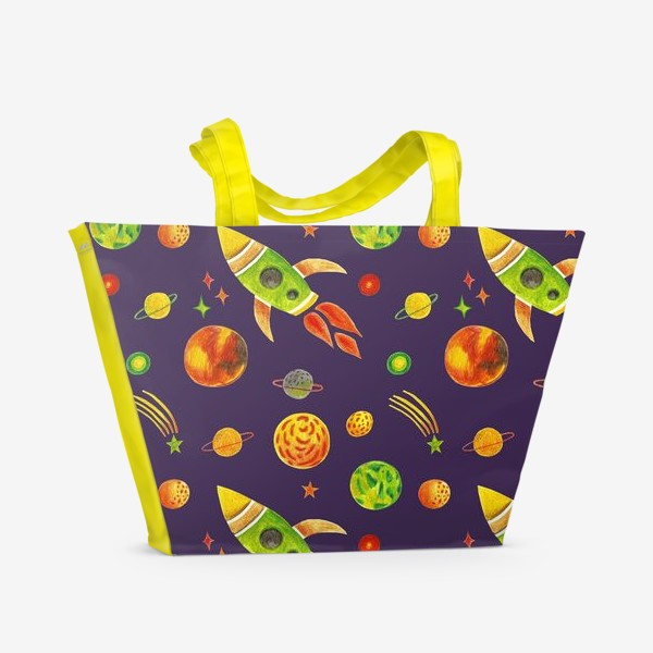 Пляжная сумка «Планеты и звезды»
