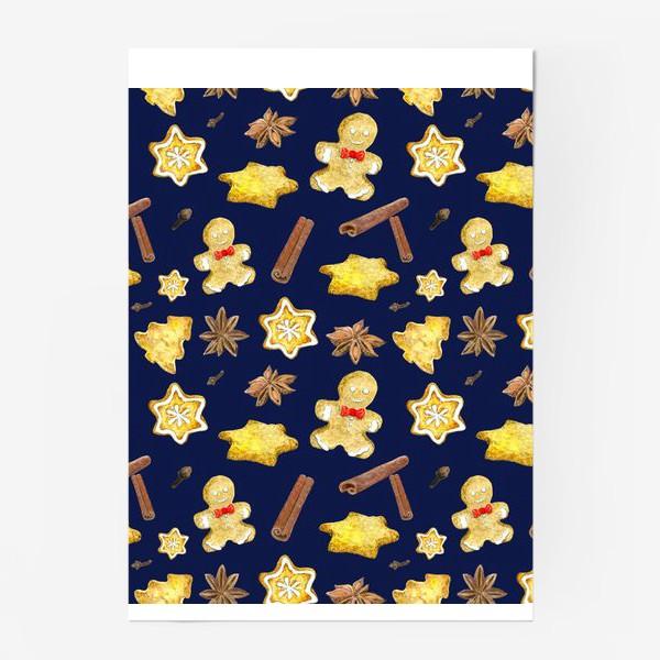 Постер «Новогодние сладости с пряностями »