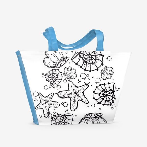 Пляжная сумка «Ракушки »