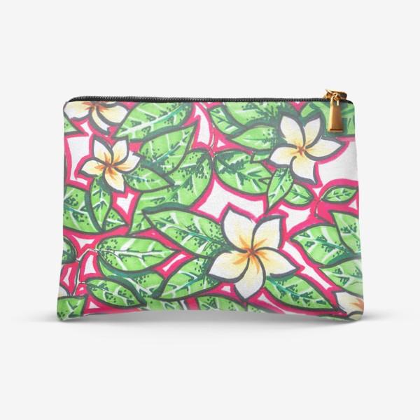 Косметичка «Тропические цветы и листья»