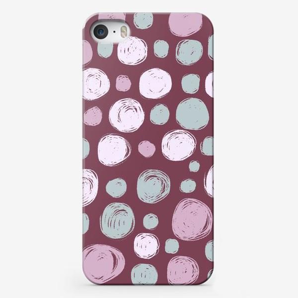 Чехол iPhone «Паттерн в розовых тонах. Круги. Абстракция»