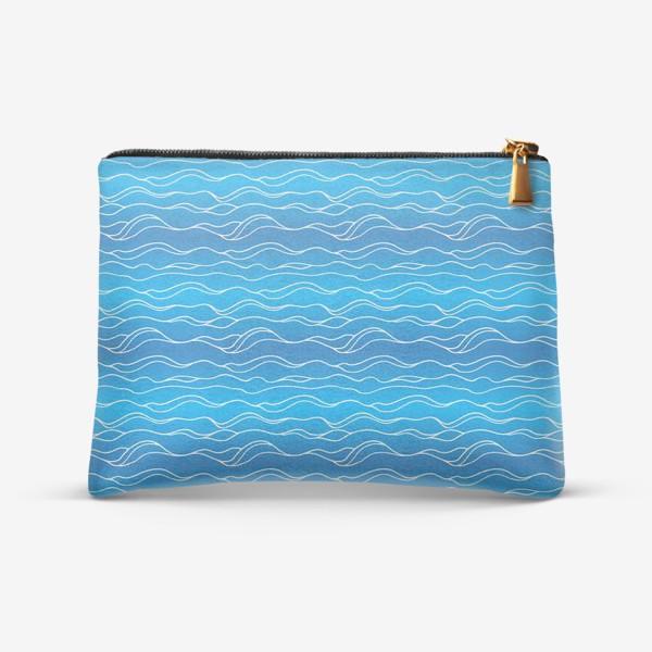 Косметичка «Сине-белые волны»