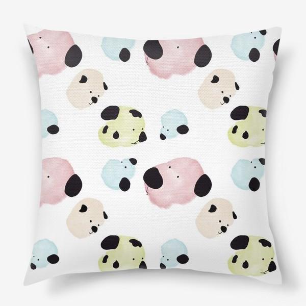 Подушка «Радужные Собаки »