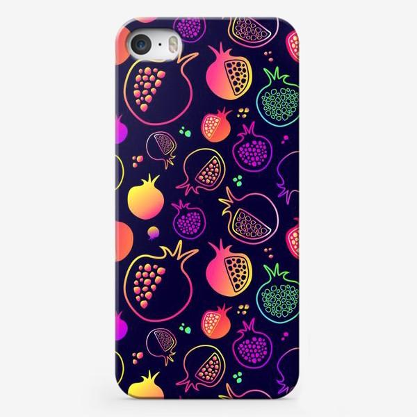 Чехол iPhone «Гранаты на темном фоне»
