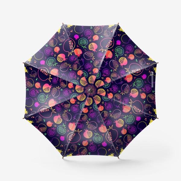 Зонт «Гранаты на темном фоне»
