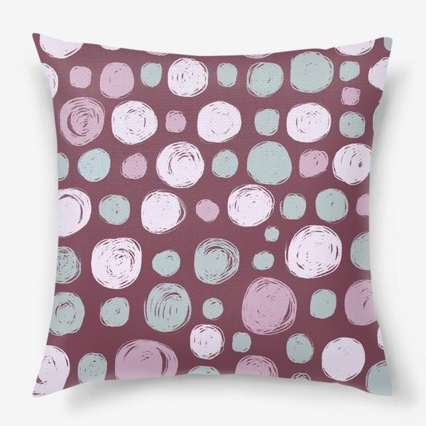 Подушка «Паттерн в розовых тонах. Круги. Абстракция»