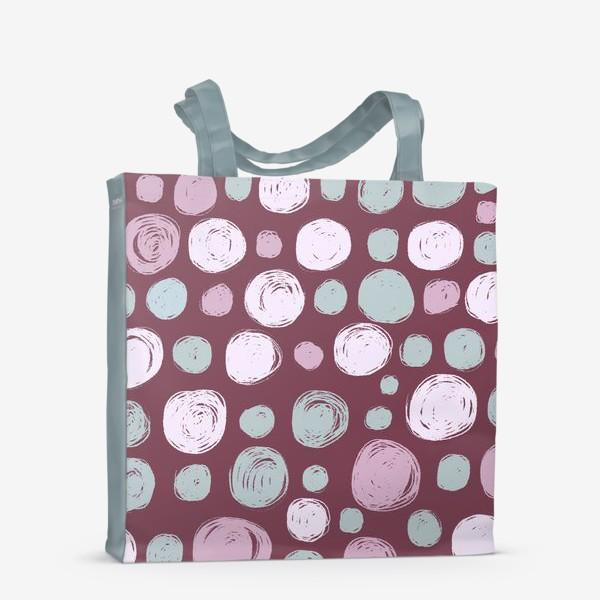 Сумка-шоппер «Паттерн в розовых тонах. Круги. Абстракция»
