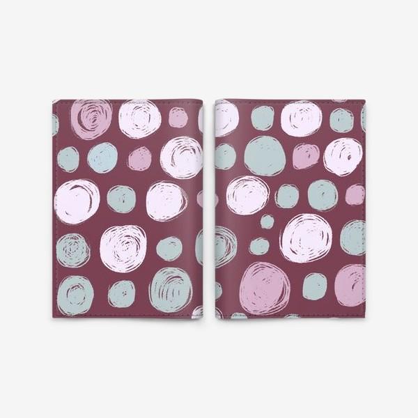 Обложка для паспорта «Паттерн в розовых тонах. Круги. Абстракция»