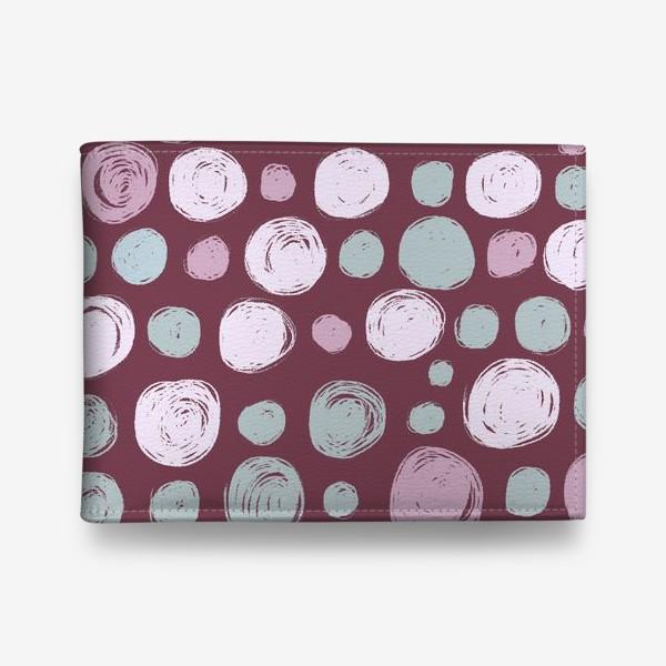 Кошелек «Паттерн в розовых тонах. Круги. Абстракция»