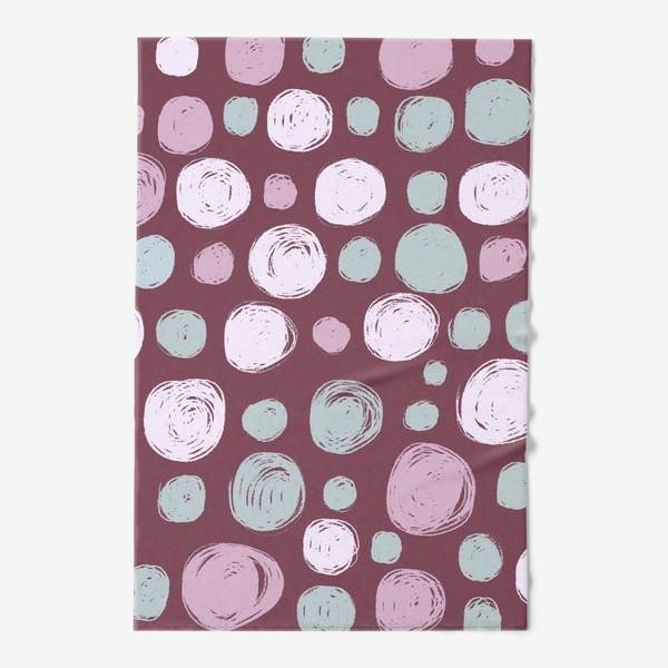 Полотенце «Паттерн в розовых тонах. Круги. Абстракция»