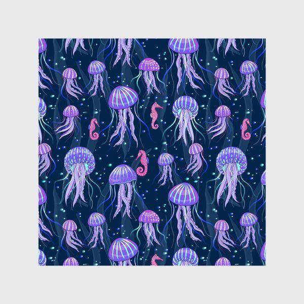 Шторы «Медузы на морской глубине. »