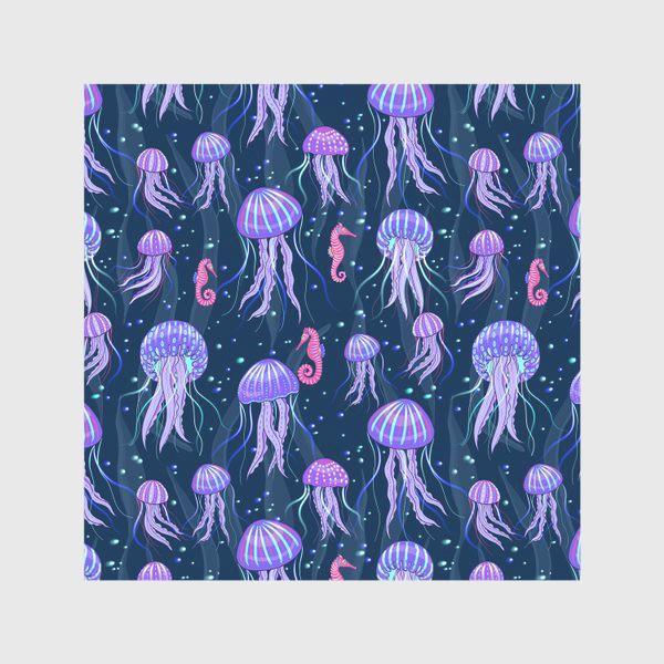 Скатерть «Медузы на морской глубине. »