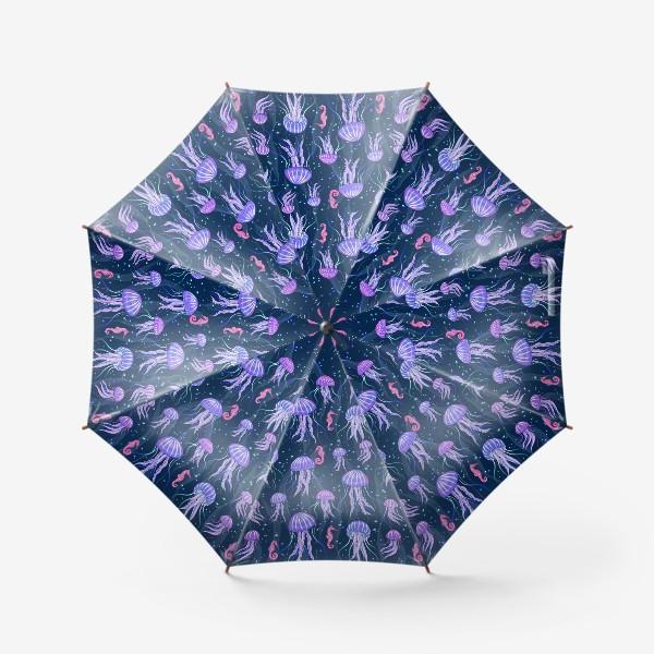 Зонт «Медузы на морской глубине. »