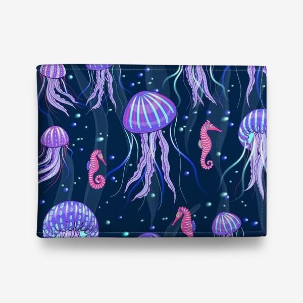 Кошелек «Медузы на морской глубине. »