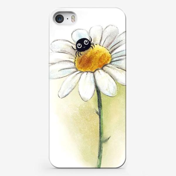 Чехол iPhone «Паучок на ромашке»