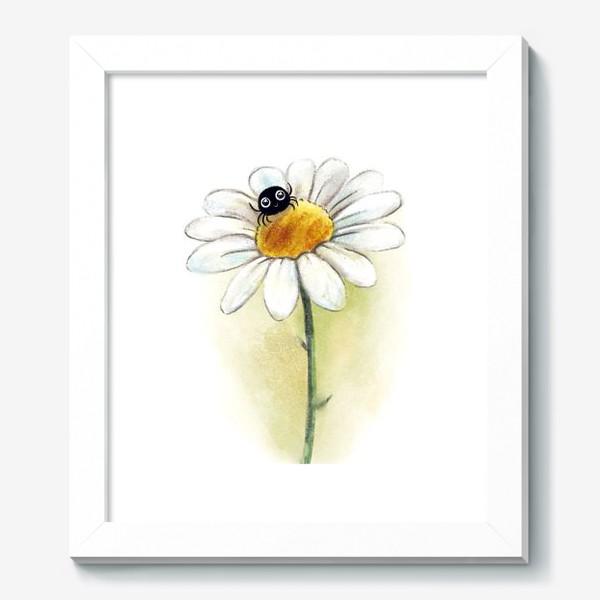 Картина «Паучок на ромашке»