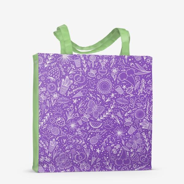 Сумка-шоппер «Время лета на фиолетовом»