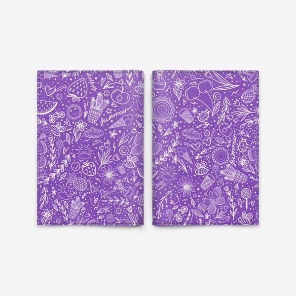 Обложка для паспорта «Время лета на фиолетовом»