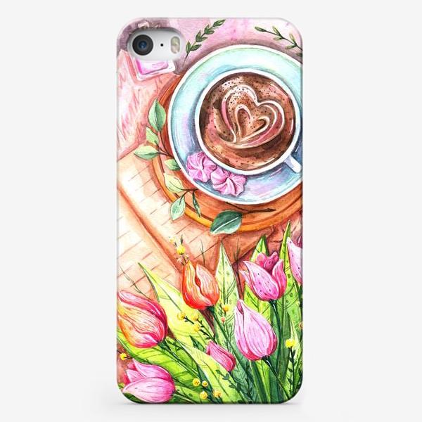 Чехол iPhone «Весенний кофе»