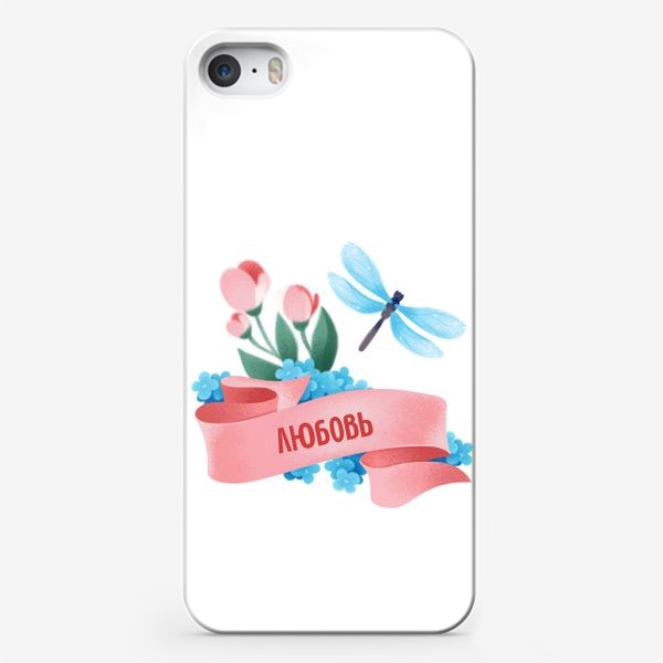 Чехол iPhone «надпись любовь на нежном фоне»