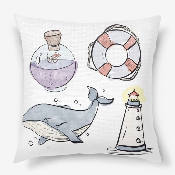Подушка «Морское путешествие »