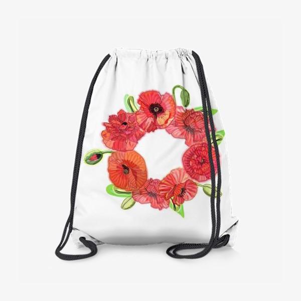 Рюкзак «Венок из красных маков»