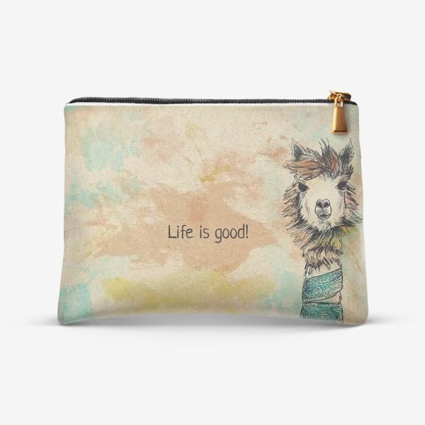"Косметичка «Альпака ""Life is good!""»"