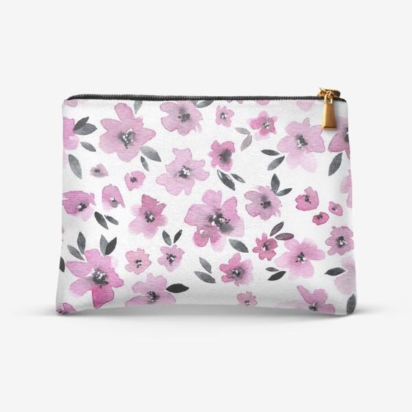 Косметичка «Розовые цветы»