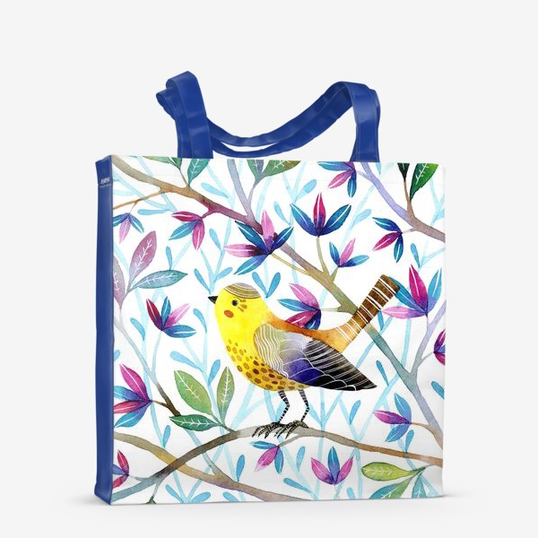 Сумка-шоппер «Птичка на веточках »