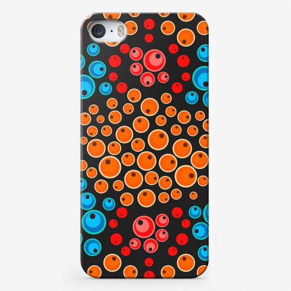 Чехол iPhone «colorful berries seamless pattern»