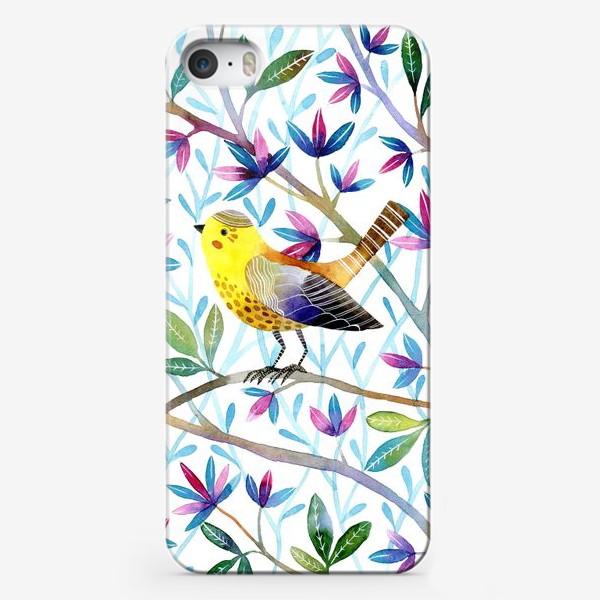 Чехол iPhone «Птичка на веточках »