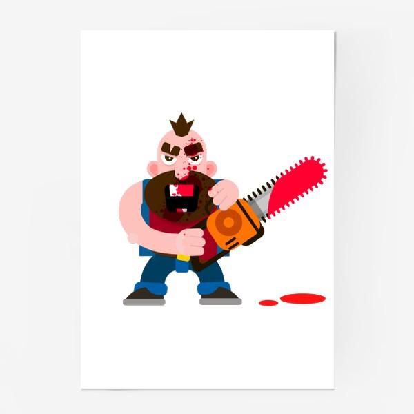 Постер «Бензопила»