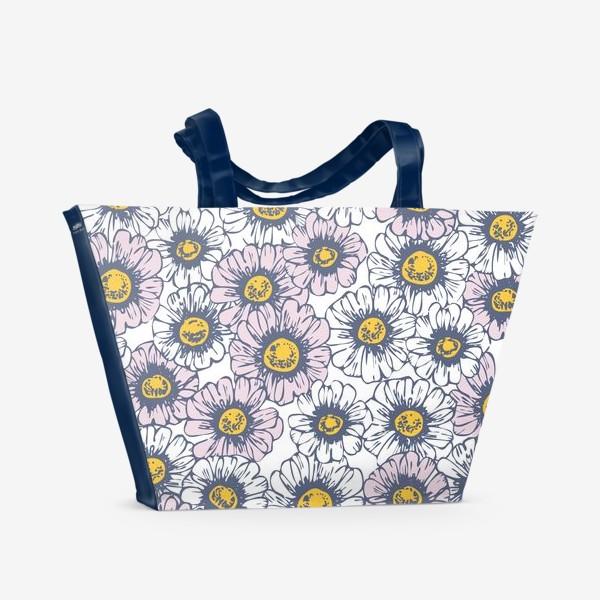 Пляжная сумка «Ромашки и маргаритки»