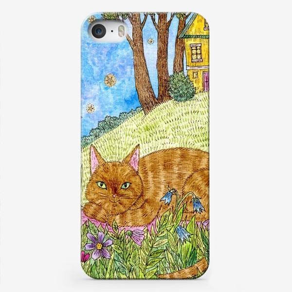 Чехол iPhone «Кошка в саду»