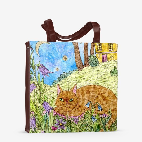 Сумка-шоппер «Кошка в саду»