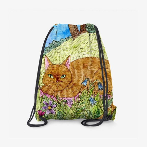 Рюкзак «Кошка в саду»