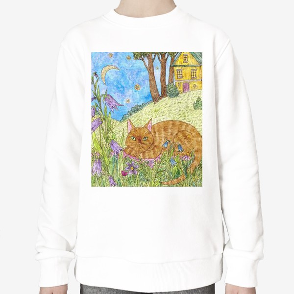 Свитшот «Кошка в саду»