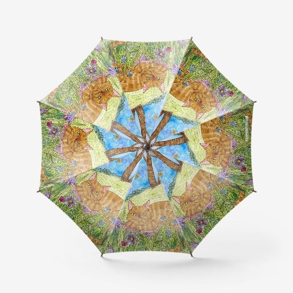 Зонт «Кошка в саду»