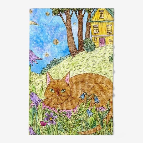 Полотенце «Кошка в саду»