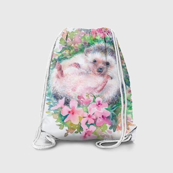 Рюкзак «Ежичек в цветах»