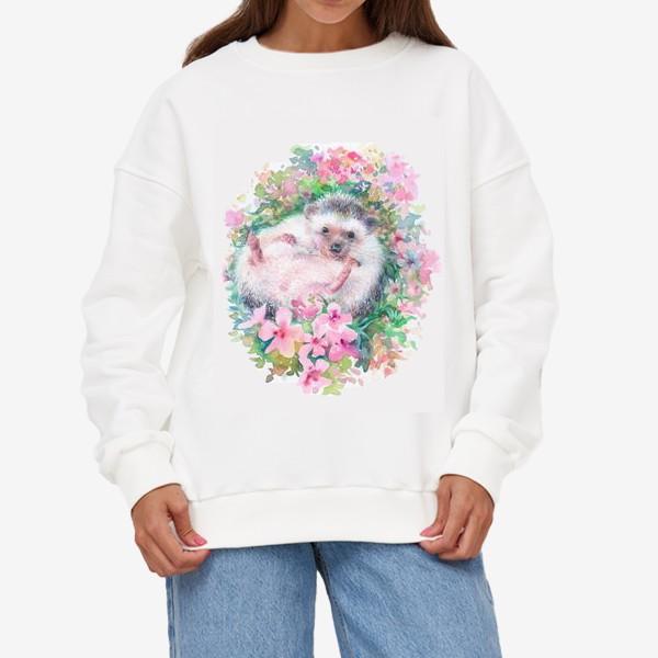 Свитшот «Ежичек в цветах»