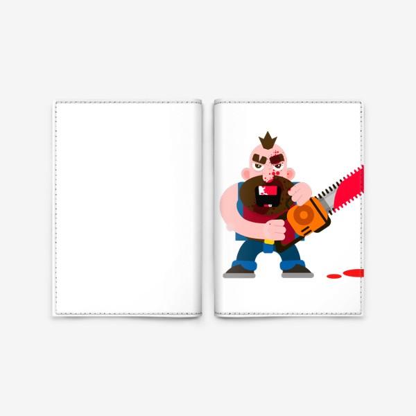 Обложка для паспорта «Бензопила»