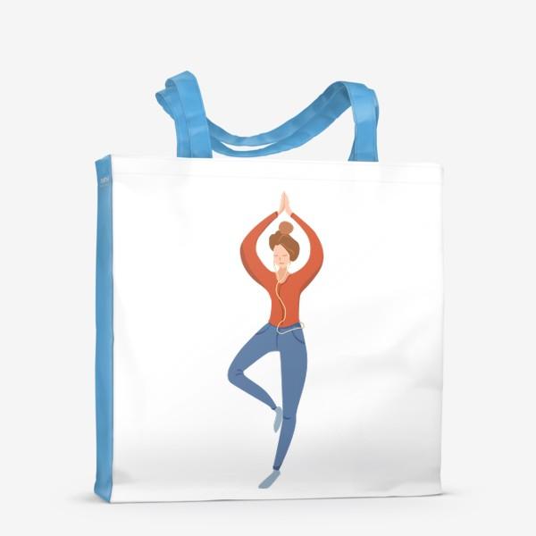 Сумка-шоппер «Йога - поза дерева»