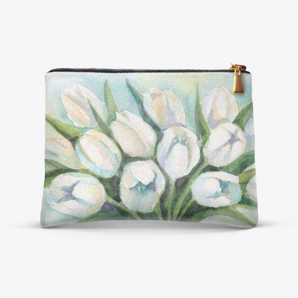 Косметичка «Белые тюльпаны»