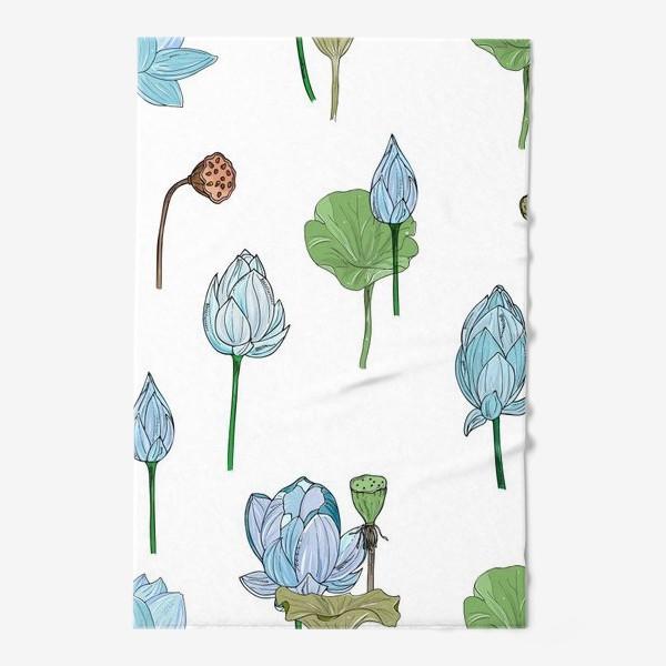 Полотенце «голубые лотосы»