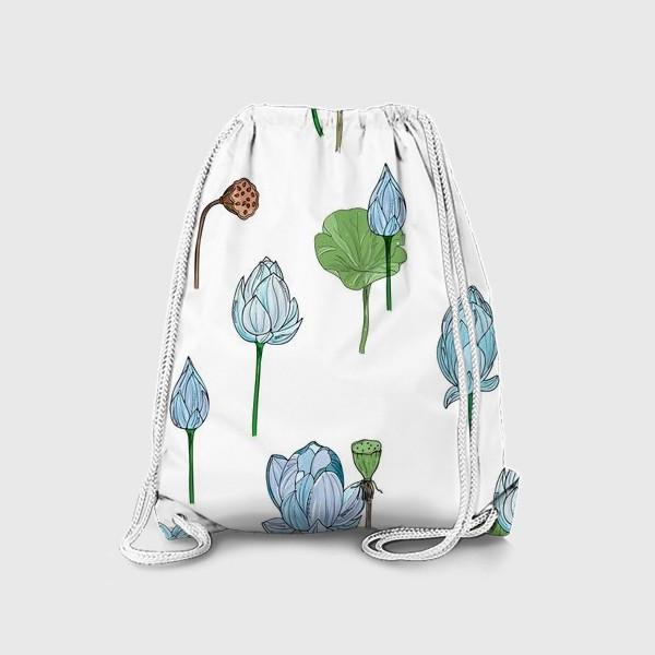 Рюкзак «голубые лотосы»