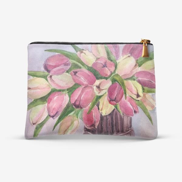 Косметичка «Букет тюльпанов»
