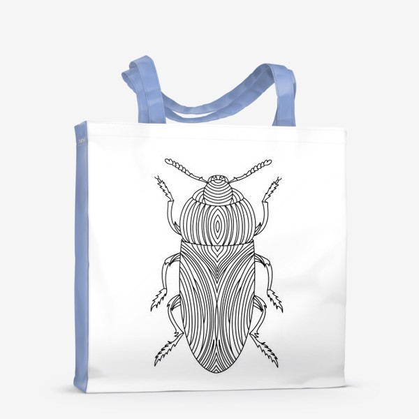 Сумка-шоппер «Жук Золотистая Бронзовка. Тропическое насекомое»