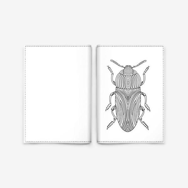 Обложка для паспорта «Жук Золотистая Бронзовка. Тропическое насекомое»