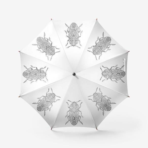 Зонт «Жук Золотистая Бронзовка. Тропическое насекомое»